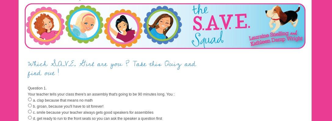 The SAVE SQUAD Quiz